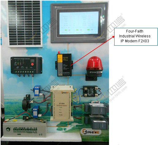 Solar Power Monitoring System : Gprs dtu for distributed off grid solar power station