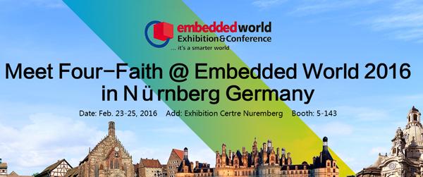 Embedded World 2016 in Nürnberg Germany