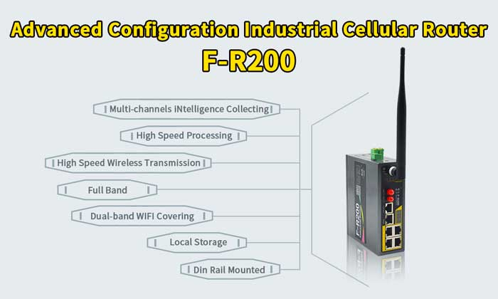 Advanced Configuration Industrial Cellular Router F-R200